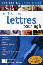 Couverture du livre « Toutes les lettres pour agir » de Collectif aux éditions Lefebvre
