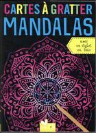 Couverture du livre « Cartes à gratter ; mandalas » de Collectif aux éditions Deux Coqs D'or