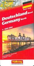 Couverture du livre « Allemagne nord dg 1/500 000 » de  aux éditions Hallwag