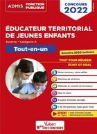 Couverture du livre « Concours éducateur territorial de jeunes enfants : tout-en-un ; catégorie A ; concours 2022 » de Fabienne Geninasca aux éditions Vuibert