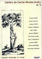 Couverture du livre « Cahier du cercle Nicolas Andry t.3 » de Alain-Charles Masquelet aux éditions Sauramps Medical