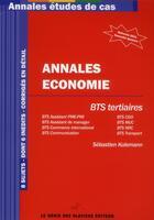 Couverture du livre « Annales économie ; bts tertiaires » de Sebastien Kulemann aux éditions Genie Des Glaciers