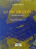 Couverture du livre « Lo fiu de luou le fils de loeuf / nouvelle inedite traduite par lauteur » de Robert Lafont aux éditions Atlantica