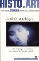 Couverture du livre « Le cinéma critique » de N Brenez aux éditions Publications De La Sorbonne