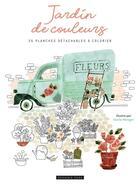 Couverture du livre « Jardins de couleurs - 35 planches detachables a colorier » de Cecile Metzger aux éditions Dessain Et Tolra