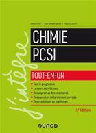 Couverture du livre « Chimie tout-en-un PCSI (5e édition) » de Bruno Fosset et Jean-Bernard Baudin aux éditions Dunod