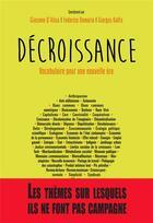 Couverture du livre « Décroissance ; vocabulaire pour une nouvelle ère » de Giacomo D'Alisa et Federico Demaria et Giorgos Kallis aux éditions Le Passager Clandestin