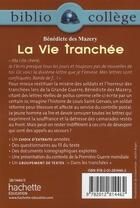 Couverture du livre « La vie tranchée » de Isabelle De Lisle et Benedicte Des Mazery aux éditions Hachette Education