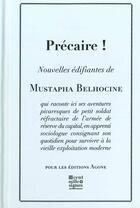 Couverture du livre « Precaire! » de Mustapha Belhocine aux éditions Agone