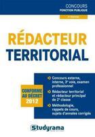 Couverture du livre « Rédacteur territorial ; catégorie B » de Marc Dalens et Caroline Binet aux éditions Studyrama