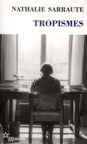 Couverture du livre « Tropismes » de Nathalie Sarraute aux éditions Minuit
