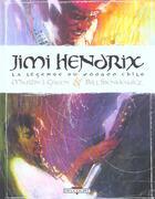 Couverture du livre « Jimi hendrix, la légende du voodoo child » de Bill Sienkiewicz et Martin J. Green aux éditions Delcourt