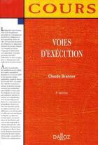 Couverture du livre « Voies d'exécution (5e édition) » de Claude Brenner aux éditions Dalloz
