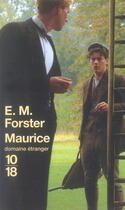 Couverture du livre « Maurice » de Forster E M aux éditions 10/18
