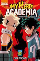 Couverture du livre « My hero academia T.2 ; déchaîne-toi, maudit nerd ! » de Kohei Horikoshi aux éditions Ki-oon