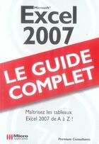 Couverture du livre « Excel 2007 » de Premium Consultants aux éditions Micro Application