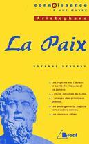 Couverture du livre « La paix, d'Aristophane » de Suzanne Desfray aux éditions Breal