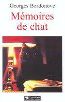 Couverture du livre « Memoires de chat » de Georges Bordonove aux éditions Pygmalion