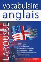Couverture du livre « Vocabulaire anglais » de Collectif aux éditions Larousse
