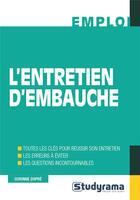 Couverture du livre « L'entretien d'embauche » de Corinne Dupre aux éditions Studyrama