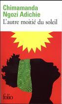 Couverture du livre « L'autre moitié du soleil » de Chimamanda Ngozi Adichie aux éditions Gallimard