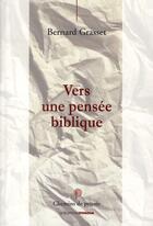 Couverture du livre « Vers une pensée biblique » de Bernard Grasset aux éditions Ovadia