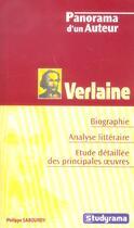 Couverture du livre « Verlaine » de Philippe Sabourdy aux éditions Studyrama