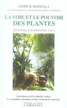 Couverture du livre « La voie et le pouvoir des plantes » de Patrick Mandala aux éditions Accarias-originel