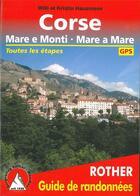 Couverture du livre « Corse ; mare e monti, mare a mare ; toutes les étapes » de Willi Hausmann et Kristin Hausmann aux éditions Rother