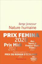 Couverture du livre « Nature humaine » de Serge Joncour aux éditions Flammarion