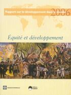 Couverture du livre « Rapport sur le développement dans le monde 2006 ; équité et développement » de Collectif aux éditions Eska