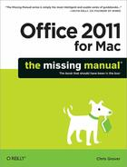 Couverture du livre « Office 2011 for Macintosh ; the missing manual » de Chris Grover aux éditions O Reilly