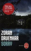 Couverture du livre « Sorry » de Zoran Drvenkar aux éditions Lgf