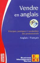 Couverture du livre « Vendre En Anglais » de Collectif aux éditions Langues Pour Tous