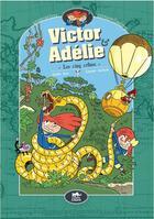 Couverture du livre « Victor & Adélie T.2 ; les cinq crânes » de Laurent Audouin et Amelie Sarn aux éditions Le Lezard Noir