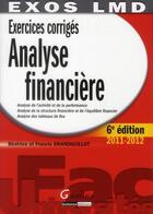 Couverture du livre « Analyse financière ; édition 2011-2012 » de Beatrice Grandguillot aux éditions Gualino