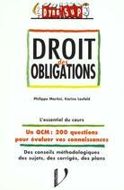 Couverture du livre « Droit des obligations » de Christophe Losfeld aux éditions Vuibert