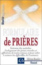 Couverture du livre « Formulaire de prières » de Benjamin Manasse aux éditions Bussiere