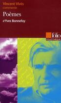 Couverture du livre « Poèmes, d'Yves Bonnefoy » de Vincent Vives aux éditions Gallimard