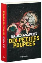 Couverture du livre « Dix petites poupées » de Paris B.A. aux éditions Hugo Roman