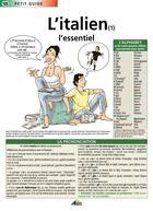 Couverture du livre « L'italien ; l'essentiel » de Collectif aux éditions Aedis