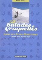 Couverture du livre « 52 balades à raquettes dans les alpes-maritimes » de Michel Bricola aux éditions Glenat