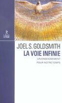 Couverture du livre « La voie infinie » de Joel S. Goldsmith aux éditions Relie