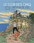 Couverture du livre « Le Club des Cinq T.1 ; le Club des Cinq et le trésor de l'île » de Natael et Beja et Enid Blyton aux éditions Hachette Comics