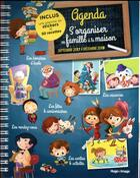 Couverture du livre « Agenda S'Organiser En Famille A La Maison De Septembre 2017 A Decembre 2018 » de Collectif aux éditions Hugo