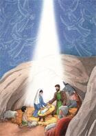 Couverture du livre « 10 cartes doubles nuit de Noël ; les anges » de Anne-Sophie Droulers aux éditions Aquar'ailes