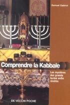 Couverture du livre « Comprendre la kaballe » de Samuel Gabirol aux éditions De Vecchi