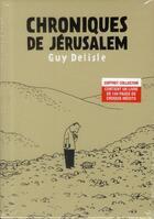 Couverture du livre « Chroniques de Jérusalem ; coffret » de Guy Delisle aux éditions Delcourt