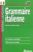 Couverture du livre « Grammaire italienne » de Marie-France Merger Leandri aux éditions Bordas