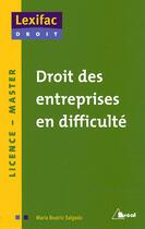 Couverture du livre « Droit des entreprises en difficulté » de Maria-Beatriz Salgado aux éditions Breal